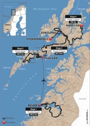Løypetraseen til Arctic Race.
