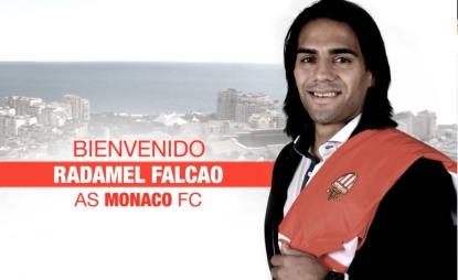 Slik blir Radamel Falcao presentert ac AS   Monaco. (Foto: AS MONACO)