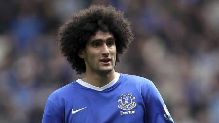 HÅRREISENDE KRAV: Marouane Fellaini vil ha godt betalt dersom han går til Arsenal. (Foto: Lynne Cameron/Pa Photos)