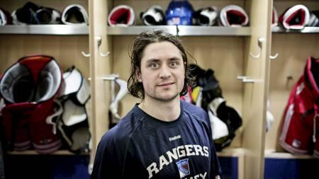 New York, USA 20130401. NHL. NY Rangers - Winnipeg Jets 4  -2.  Mats Zuccarello Aasen fikk en assist i kampen og ble dessuten utvist tre ganger. Foto: Pontus Höök / NTB scanpix (Foto: Höök, Pontus/NTB scanpix)