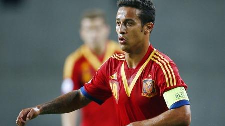 ØNSKET I REAL MADRID: Real Madrid prøvde å lure Thiago Alcantara   fra Barcelona.