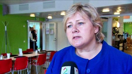 BORTKASTEDE PENGER: Erna Solberg mener Drudes situasjon er fortvilende. Hun lover en kortere helsekø med henne i førersetet.