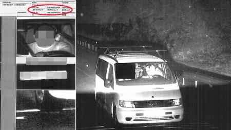 SERIEFORBRYTER: Den rumenske statsborgeren ble dømt for 44 fartsovertredelser, men fikk ikke ubetinget fengsel. Dette bildet er fra politiets automatiske trafikkontroll, der han ble avbildet mens han kjørte i 109 kilometer i timen. (Foto: Politiet)
