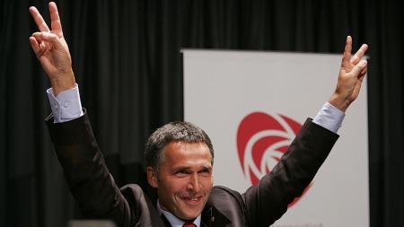 jens stoltenberg valgnatt 2005 (Foto: Erlend Aas / SCANPIX)