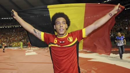 BELGIA = SUKSESS: Belgiske spillere er hete i Europa for tiden. Axel Witsel er nå ønsket av Paris Saint-Germain. (Foto: JOHN THYS/Afp)