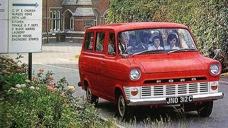 Slik så første generasjon av suksessbilen Ford Transit ut.