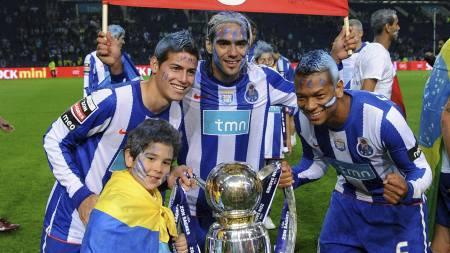 COLOMBIANSK ÆRA: James Rodriguez, Radamel Falcao og Fredy Guarin har alle vært en suksess i Porto. (Foto: Paulo Duarte/Ap)