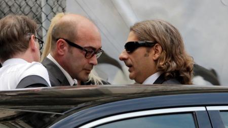John Ventimiglia og Michael Imperioli i James Gandolfinis begravelse (Foto: Richard Drew/AP Photo, ©RED CL**NY**)