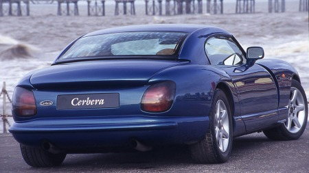 Cerbera er en av bilene fra TVRs forrige