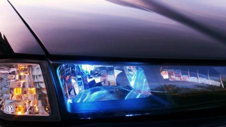 Lysutstyret kan gjøre mye med utseendet på en bil. Denne er intet unntak. (Foto: Privat)