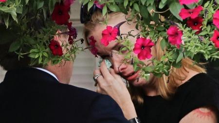 Onsdag kveld var Gandolfinis familie samlet i et begravlesesbyrå i New Jersey for en privat minnestund før begravelsen.