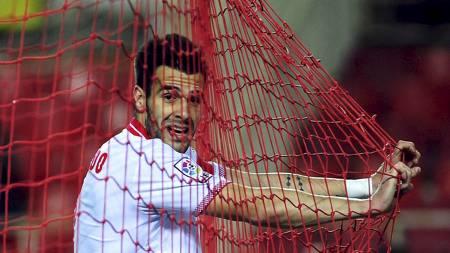 MÅLJEGER: Alvaro Negredo vet hvor målet står. (Foto: CRISTINA   QUICLER/Afp)