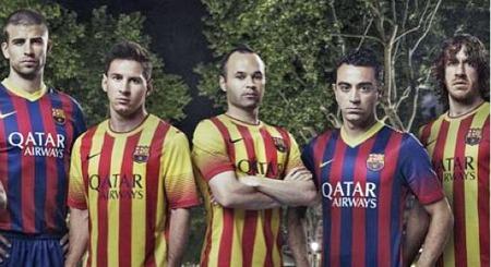 FORSVANT: Thiago Alcantara sto egentlig til venstre for Gerard   Pique på dette bildet. Men plutselig forsvant han.