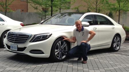 Brooms bilekspert Benny Christensen er på plass i Canada - og lanseringen av nye Mercedes S-klasse.