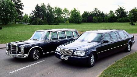 Mercedes W140 fantes også som en Pullman limousin