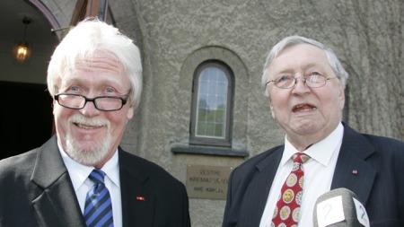 TO GODE VENNER: Harald Heide Steen jr. og Wesenlund samarbeidet tett over mange år. Her fra kameraten Arve Opsahls bisettelse i 2007.  (Foto: Marius Gulliksrud, ©wj)