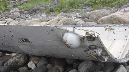 STOR: Delen ruver i fjæra i Laksebukta i Finnmark.  (Foto: Bernt Nilsen)
