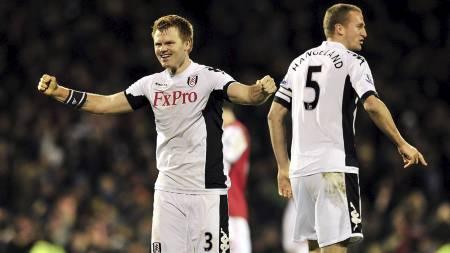 FÅR NYE EIERE: John Arne Riise og Brede Hangelands klubb Fulham får trolig nye eiere. (Foto: GLYN KIRK/Afp)