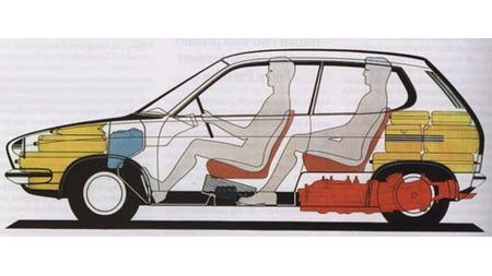 VW EA276. To bagasjerom. god innvendig plass, flat drivlinje  og sporty kjøreegenskaper. Slik kunne VW Golf erstatteren blitt.
