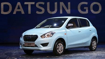 Her er den nye lavprisbilen fra Datsun: Go ble avduket denne uken - mye tyder nå på at Datsun kommer med en svært billig innstegsmodell.  (Foto: Scanpix)