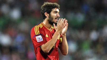 TIL ENGLAND: Den spanske U20-kapteinen Jose Campana er på vei   til Crystal Palace. (Foto: OZAN KOSE/Afp)