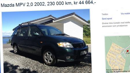 Mazdas store flerbruksbil er relativt sjelden i Norge - her kan du gjøre gode kjøp. Faksimile fra finn.no.