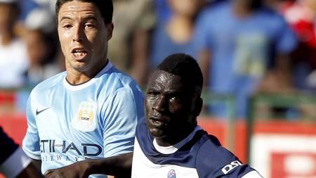 TAPTE: Manchester City tapte mot Supersport i en treningskamp. (Foto: SIPHIWE SIBEKO/Reuters)