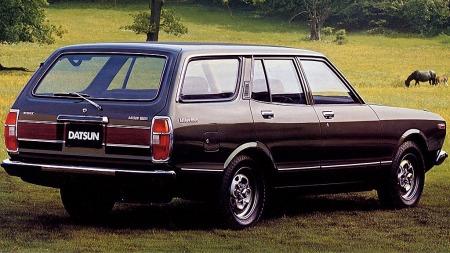Datsun 180B en framilebil som kanskje hadde Ford Taunus som en av sine nærmeste konkurrenter