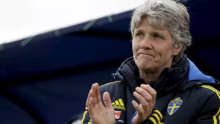 RØPER DRØMMEN: Sveriges suksesstrener  Pia Sundhage. (Foto: Armando Franca/Ap)