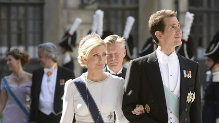 FRA HELLAS: Greske kronprins Pavlos og prinsesse Marie Chantal kommer sammen til Skaugum. (Foto: Maja Suslin, ©SA AJP**LON**)