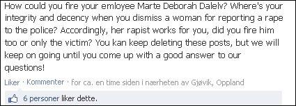 OPPRØRT: Mange er sinte fordi firmaet har prøvd å slette kommentarer på Facebook-siden.  (Foto: Skjermdump/Facebook)
