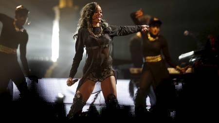 RIHANNA: Popstjernen fra Barbados slik vi kjenner henne. (Foto: Erlend Aas/NTB scanpix)
