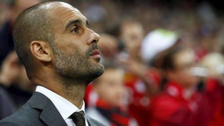 SEIER: Pep Guardiola kunne juble for seier til Bayern München i serieåpningen. (Foto: MICHAELA REHLE/Reuters)