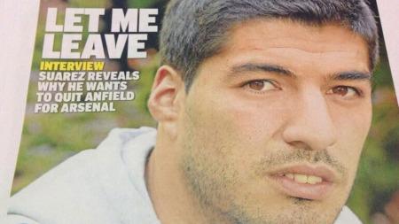 VIL VEKK: Luis Suarez trygler Liverpool om å selge ham.