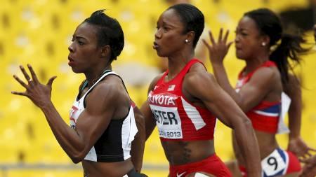 Carmelita Jeter, Murielle Ahoure, Ezinne Okparaebo (Foto: DOMINIC EBENBICHLER/Reuters)