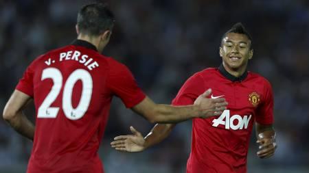 GJENNOMBRUDD: Jesse Lingard har scoret flere perlemål for Manchester   United, og kan bli en mann å følge med på i 2013/14. (Foto: ISSEI KATO/Reuters)