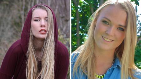 Marit Isachsen (16) fra Bergen, og Mia Toft (20) fra Stabekk.