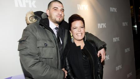Oslo 20130225. Else Kåss Furuseth og Leo Ajkic ankommer premierefesten   og visningen av NRK-serien