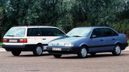 Tredje generasjon VW Passat var den uten grill...