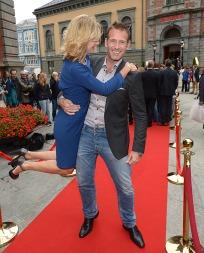 PROGRAMLEDERPAR: Guri Solberg og Carsten Skjelbreid skal lede årets «Skal vi danse» sammen. (Foto: Tor Gunnar Berland, ©ps)