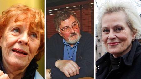 I SORG: Skuespiller Kari Simonsen, regissør Knut Bohwim og skuespiller Anne Marie Ottersen tok nyheten om Rolv Wesenlunds bortgang med sorg.
