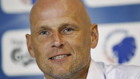 Ståle Solbakken på onsdagens pressekonferanse, der han ble bresentert som ny trener i FC København. (Foto: Bax Lindhardt/NTB scanpix)