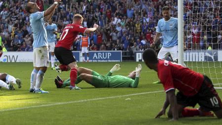 HISTORISK: Aron Gunnarsson ble historisk for Cardiff. (Foto: David Davies/Pa Photos)