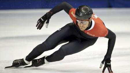 Olivier Jean under Canadas VM-uttak i Montreal i juli. (Foto: Paul Chiasson/Ap)