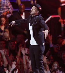 Justin Timberlake hadde uten tvil nattens største opptreden hvor han fremførte et titals av sine låter