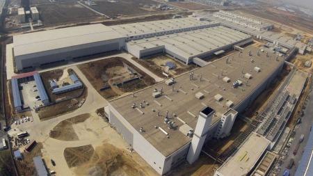 Dette er den ene av Volvos to nye fabrikker i Kina, den ligger i Chengdu, sør-vest i landet.  (Foto: Scanpix)