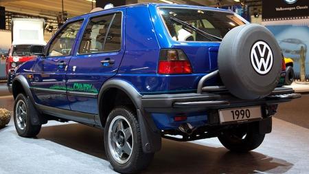 Et bilde av VW Golf Country fra lanseringen i 1990.