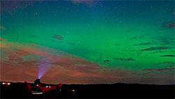 Nordlyset over Akershus 28. august kom som en overraskelse, og skyldtes spesielle forhold på solen. (Foto: Stian Norum Herlofsen )