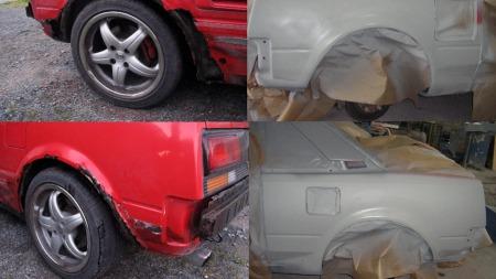 Det er gjort en omfattende jobb med karosseriet på bilen. (Foto: Privat)
