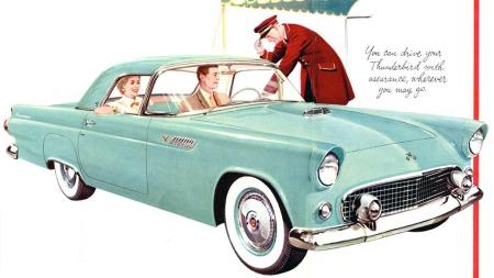 Originalen ble nok markedsført med mer pomp og prakt. Det opprinnelige designet, som AUen kopierte, holdt bare i 1955 og 1956, men solgte allerede det første året mer enn tre ganger så mange eksemplarer som 1000 SP i hele levetiden. (Foto: Ford)